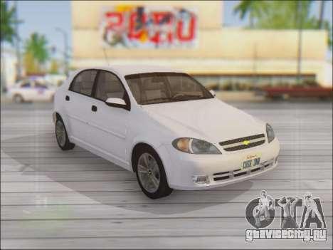 Chevrolet Lacetti для GTA San Andreas вид сбоку