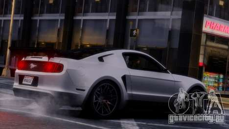 Ford Mustang GT 2014 Custom Kit для GTA 4 вид снизу
