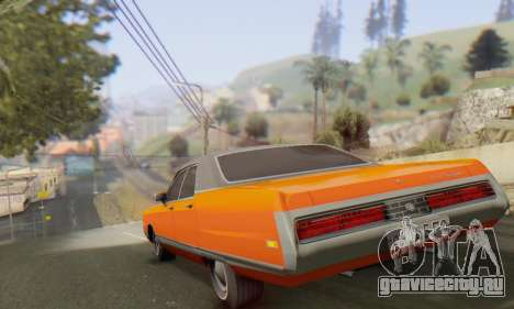 Chrysler New Yorker 1971 для GTA San Andreas вид сзади