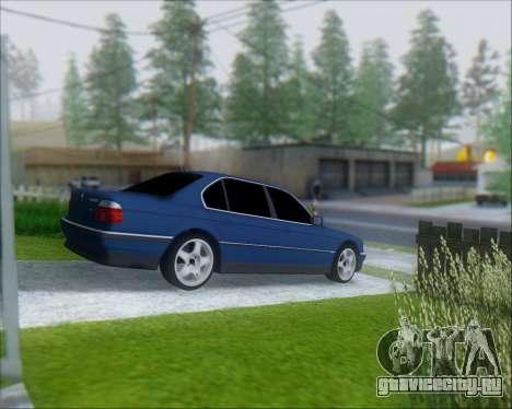 BMW 7 E38 для GTA San Andreas вид сзади слева