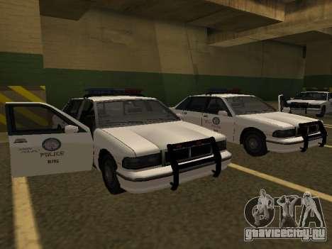 Police Original Cruiser v.4 для GTA San Andreas вид сзади слева
