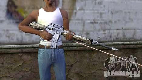 M4A1 с лазерным прицелом для GTA San Andreas третий скриншот