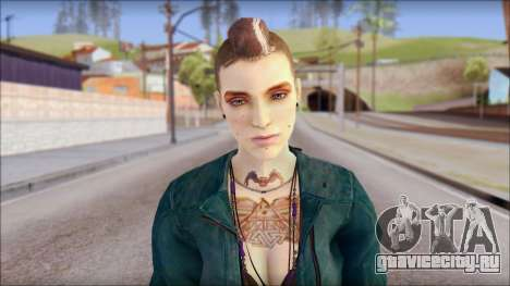 Clara Lille From Watch Dogs для GTA San Andreas третий скриншот