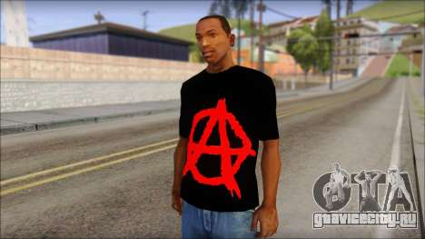 Anarhcy T-Shirt v1 для GTA San Andreas
