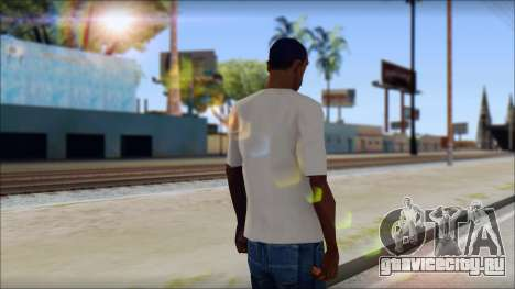 Skull Butterfly T-Shirt для GTA San Andreas второй скриншот