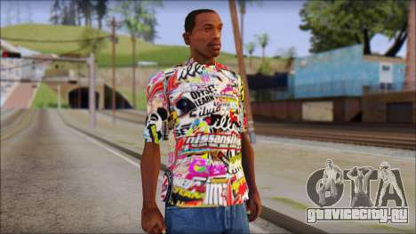 Sticker Bomb T-Shirt для GTA San Andreas