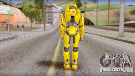 Masterchief Yellow from Halo для GTA San Andreas второй скриншот