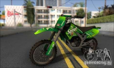 Sanchez From GTA V для GTA San Andreas вид сзади слева