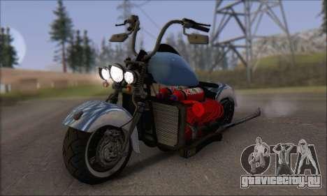 Boss Hoss v8 8200cc для GTA San Andreas вид слева