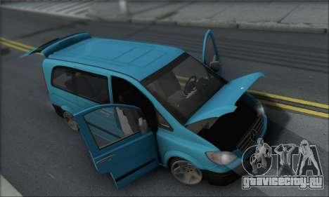 Mercedes-Benz 115 CDI Vito 2007 Stance для GTA San Andreas вид сбоку