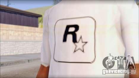 Rockstar Games White T-Shirt для GTA San Andreas третий скриншот