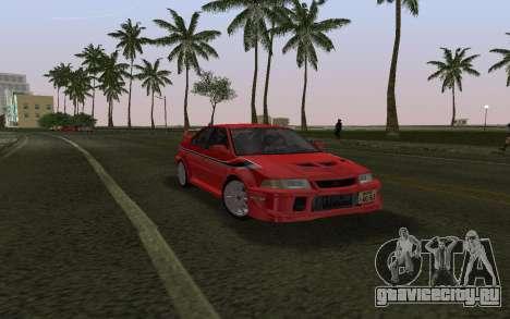 Mitsubishi Lancer Evolution 6 Tommy Makinen Edit для GTA Vice City