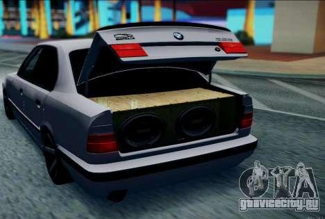 BMW 520i E34 для GTA San Andreas вид слева