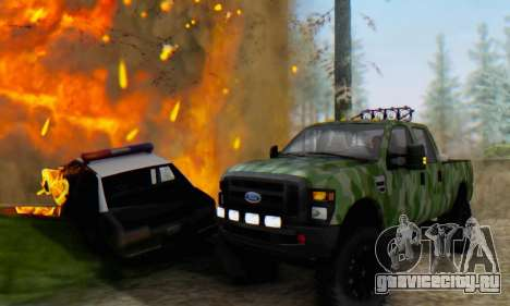 Ford F-250 Camo Lifted 2010 для GTA San Andreas вид сзади