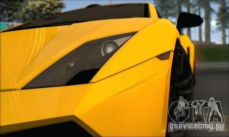 Lamborghini Gallardo LP570 Superleggera для GTA San Andreas вид изнутри
