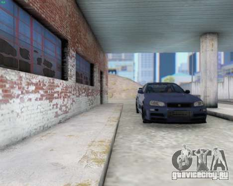 Nissan Skyline R34 Fast and Furious 4 для GTA San Andreas вид изнутри