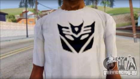 Decepticon T-Shirt для GTA San Andreas третий скриншот