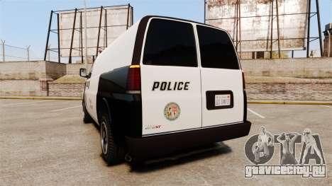 Vapid Speedo Los Santos Police [ELS] для GTA 4 вид сзади слева