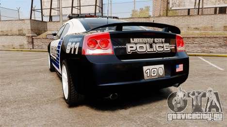 Dodge Charger SRT8 2010 [ELS] для GTA 4 вид сзади слева