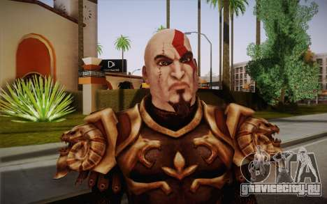 Kratos God Armor для GTA San Andreas третий скриншот