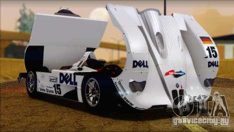 BMW 14 LMR 1999 для GTA San Andreas вид справа