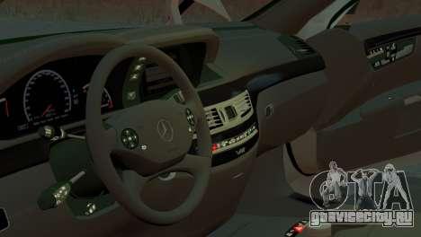 Mercedes-Benz S65 W221 AMG v1.3 для GTA 4 вид сзади