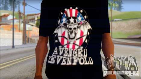 A7X Love It Or Die Fan T-Shirt для GTA San Andreas третий скриншот