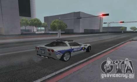 Chevrolet Corvette Z06 Police для GTA San Andreas вид слева