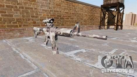 Автоматический карабин М4А1 Arctic Camo для GTA 4