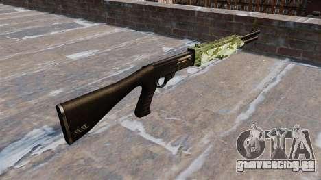 Ружьё Franchi SPAS-12 Green Camo для GTA 4 второй скриншот