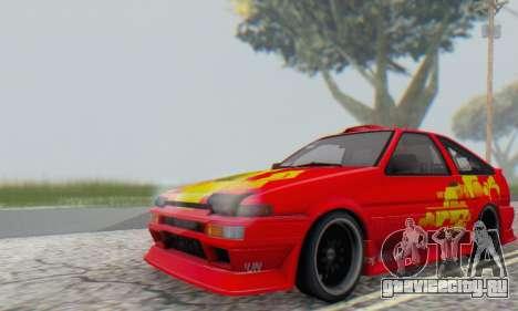 Toyota Corolla AE86 DS для GTA San Andreas вид сзади