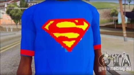 Superman T-Shirt v1 для GTA San Andreas третий скриншот