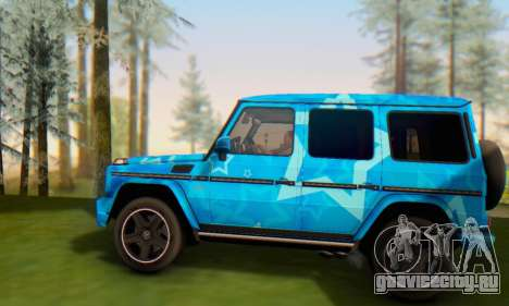 Mercedes-Benz G65 Blue Star для GTA San Andreas вид снизу