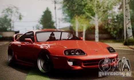 Toyota Supra Stock для GTA San Andreas вид сзади