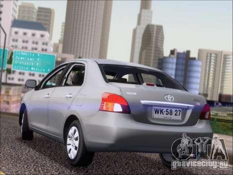 Toyota Yaris 2008 Sedan для GTA San Andreas вид сзади слева