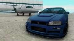 Nissan Skyline R34 Fast and Furious 4 для GTA San Andreas