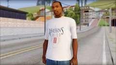 Assassins Creed 3 Fan T-Shirt для GTA San Andreas