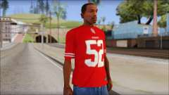 San Francisco 69ers 52 Willis Red T-Shirt для GTA San Andreas