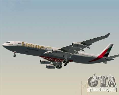 Airbus A340-313 Emirates для GTA San Andreas колёса