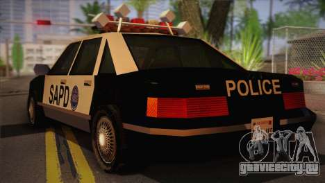 GTA 3 Police Car для GTA San Andreas вид слева