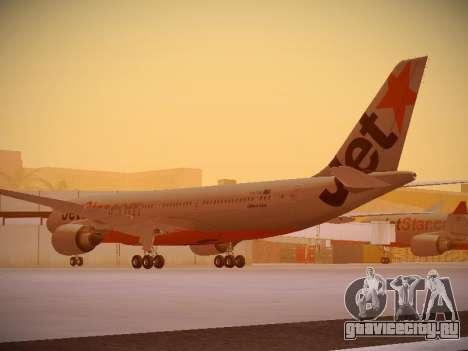 Airbus A330-200 Jetstar Airways для GTA San Andreas вид сзади слева
