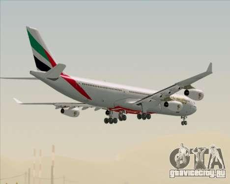 Airbus A340-313 Emirates для GTA San Andreas вид снизу