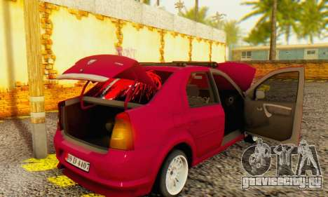 Dacia Logan 1.6 MPI Tuning для GTA San Andreas вид сзади
