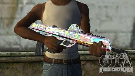 Graffiti Assault rifle для GTA San Andreas третий скриншот