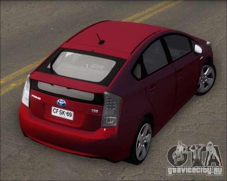 Toyota Prius для GTA San Andreas вид изнутри