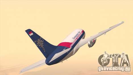 Indonesian Plane Sriwijaya Air для GTA San Andreas вид сзади слева