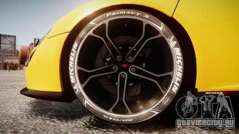 McLaren 650S Spider 2014 [EPM] Michelin v4 для GTA 4 вид сзади