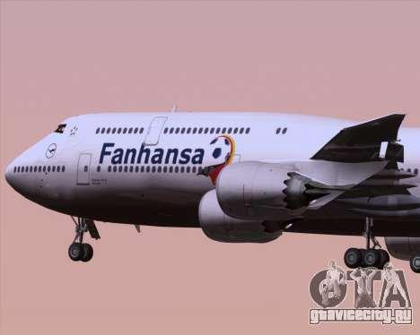 Boeing 747-830 Lufthansa - Fanhansa для GTA San Andreas вид сбоку