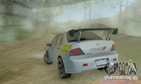 Mitsubishi Lancer Turkis Drift Aem для GTA San Andreas вид изнутри
