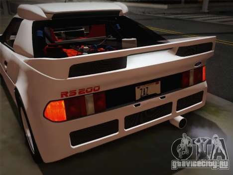 Ford RS200 Evolution 1985 для GTA San Andreas